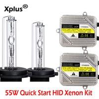 Xplus 55W Quickly Start HID Xenon Kit 2pcs Ballast H1 H3 H4 H8 H7 H8 H9 H11HB3 HB4 9005 9006 880 881 H27 For Car Headlight