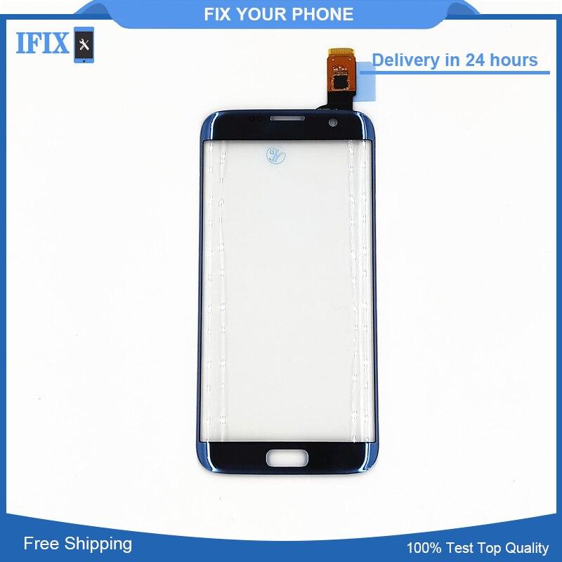 Für Samsung Galaxy S7 Rand G935 G935F Touchscreen Digitizer Front Glas Sensor Rosa Blau Grau Gold Bunte Ersatz