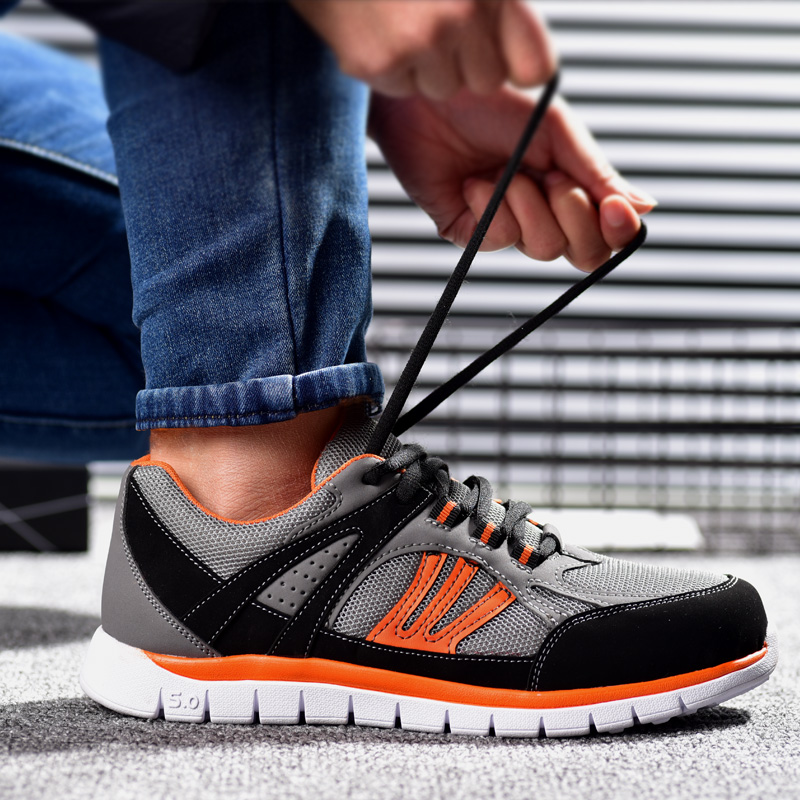 new arrival men large size breathable steel toe covers working safety shoes very light tooling security boots protect footwear