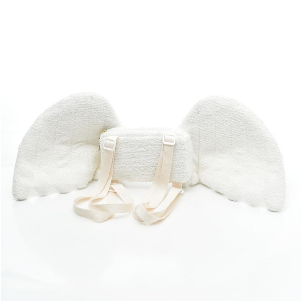 Cute Angel Wings Plush Backpack Kawaii Backpack Stuffed Angel Love Dolls Bag Messenger Bag For Girl