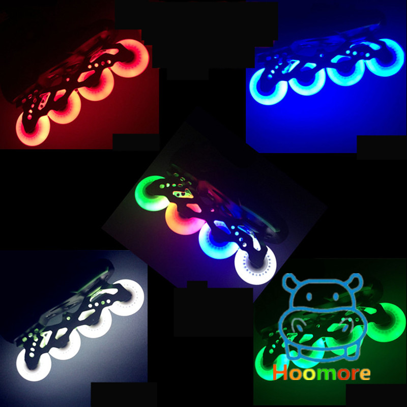 64mm 68mm 70mm Anak-anak Kid Inline Skates Wheel dengan Blue Pink LED Flash Shine Light, Cool in Darkness and Night