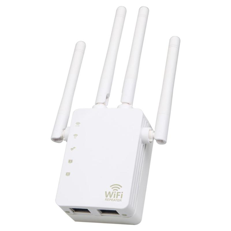 AC Wireless Routers 2.4G/5G Dual Band WiFi Repeater 1200Mbps Wireless Repeater Router 4 High Antennas for Factory Home Office image