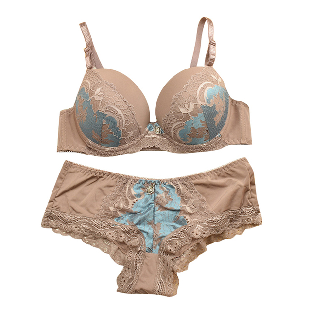 8dfb096f40 LASPERAL Embroidery Women Underwear Bra Sets Pink Sexy Luxury Lingerie  panty bras 2017 Transparent Wedding Bra