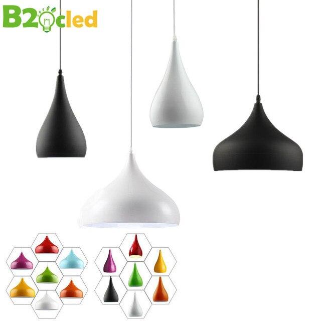 Moderne Pendelleuchten Zwei Einfache Formen Verschiedene Farben Lampen Restaurants Schlafzimmer Cafes Wohnzimmer Beleuchtung E27 Halter