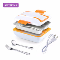 AHTOSKA 220V Portable Electric Heating Lunch Box Made By Stainless Steel And Plastics Food Warmer For