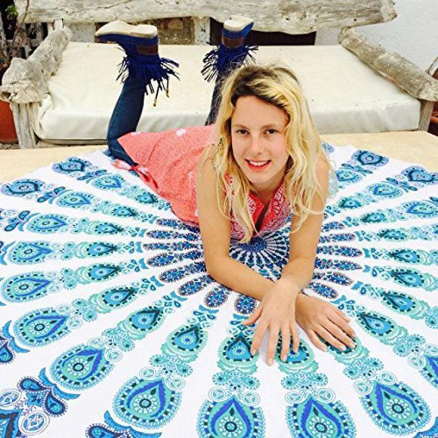 2017 New Qualified Round Beach Pool Home Shower Towel Blanket Table Cloth Yoga Mat Levert Dropship A18