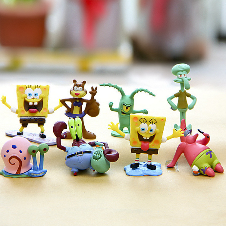 10 Styles Kawaii Patrick Star SpongeBob Model Hand To Do Action Figure Toys Doll Sponge Bob Vinyl Doll Classic Toys For Kid Gift in Action Toy Figures from Toys Hobbies