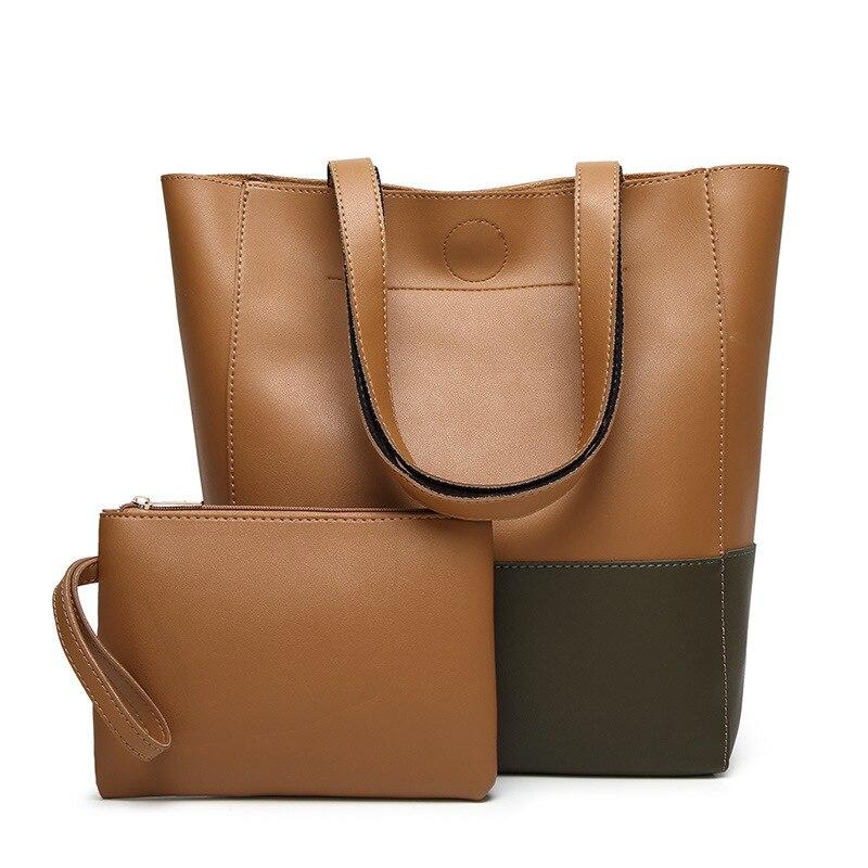 Women's bags, European and American fashion, shoulder bag, female, simple, collision, color, mother, bag, big bag, 8 colors.