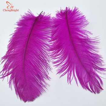 ChengBright 500Pcs/Lot Rose Real Ostrich Feathers For Crafts 15-70CM Carnival Costumes Party Home Wedding Decorations Plumes Diy
