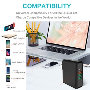 Image 5 - 61W PD Type C USB Fast Charger QC 3.0 Quick Charger for Macbook Samsung A50 A30 iPhone Laptop Tablet With US EU UK Plug Adapter