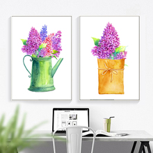 Lilac Pot Plant Nordic Poster And Prints Wall Art Canvas Painting Wall Pictures For Living Room Bedroom Home Decor