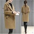 2017 de Las Mujeres de cachemira abrigo Qiu dong es de gran tamaño de moda de gama alta ropa de mujer gruesa capa caliente floja elegante capa B052