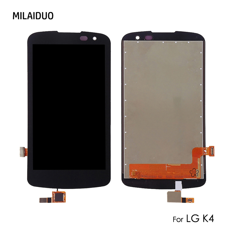Original LCD Display For LG K4 K120 K120E K130 Touch Screen Digitizer Full Assembly Replacement Black without Frame 4.5''