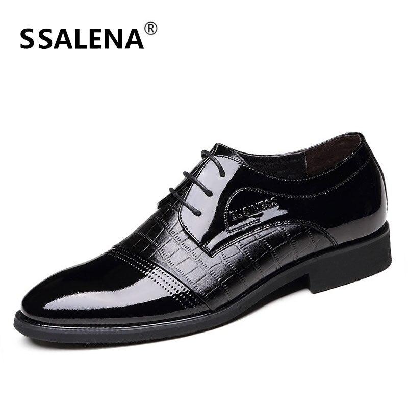 Trabalho Plana Homens Toe Peso Leve Apontou Design Preto marrom Formal Sapatos Casuais De Aa40198 Couro Masculinos Novo Vestido O6Bxgq