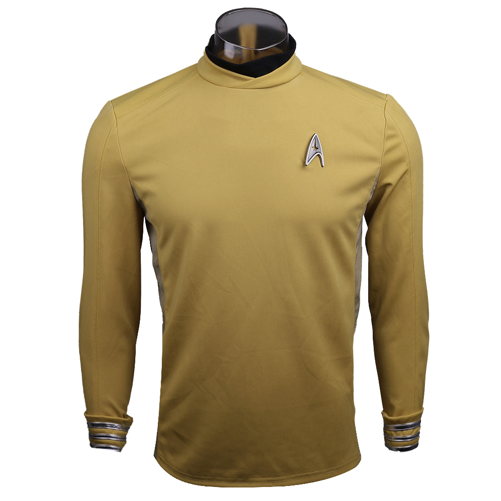 New 2016 Star Trek Costume Cosplay Star Trek Beyond  Sulu Costume Cosplay Sulu Yellow Uniform  Halloween Party