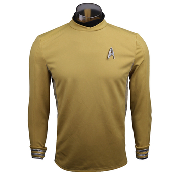 New 2016 Startreks Costume Cosplay ST Beyond Sulu Costume Cosplay Sulu Yellow Uniform Halloween Party image