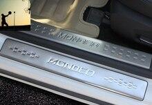 Для Ford Mondeo mk4 2013 2014 2015 2016 Порога Добро Пожаловать Педали новая модификация специальной нержавеющей стали Автомобильные аксессуары