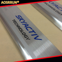 304 Stainless Steel Door Sill Scuff Plate Protector SkyaCtiv FOR 2014 Mazda 3 AXELA M3 CX
