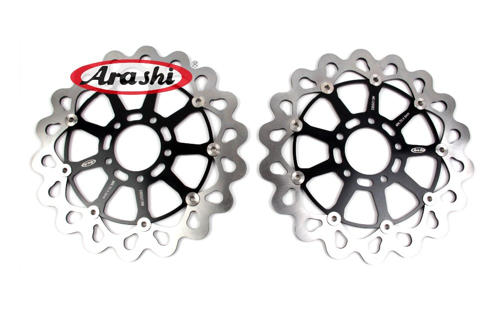 Arashi 1 Pair GSXR1300 CNC Front Brake Disc Rotors For SUZUKI HAYABUSA GSXR 1300 1999 2000 2001 2002 2003 2004 2005 2006 2007 arashi front brake disc rotors for suzuki 2006 2007 gsxr 600 750