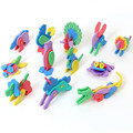 Puzzles 3D three-dimensional jigsaw puzzle diy cabin furniture model animal fight inserted EVA handmade children toys