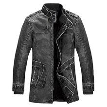 Đứng Cổ Áo Chất Lượng Cao Leather Jacket Cho Nam Giới Mỏng Ấm Mens Da Xe Gắn Máy Rửa Áo Khoác Biker