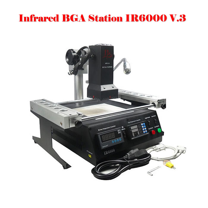 No Tax! BGA rework station, soldering staion IR6000 V.3 + with free gift PCB clamp for PS3 & XBOX360 shuttle star sp380iitouch screen hot air bga rework station sp 380ii free tax to russia