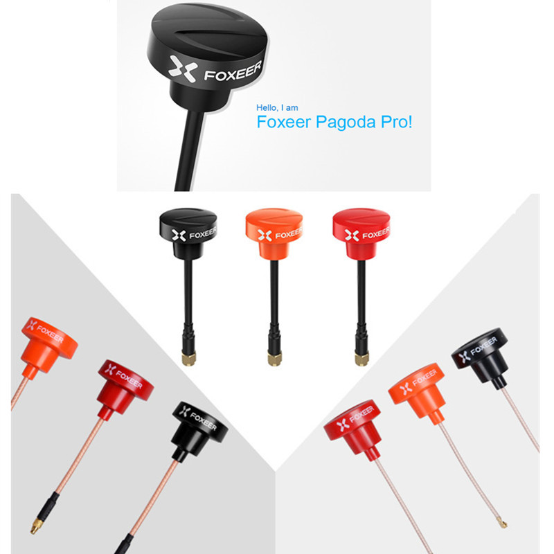 FOXEER Pagoda Pro 5.8GHz Full range FPV Antenna SMA RP-SMA UFL MMCX Plug Low standing wave for RC FPV Racing Drone Quadcopter