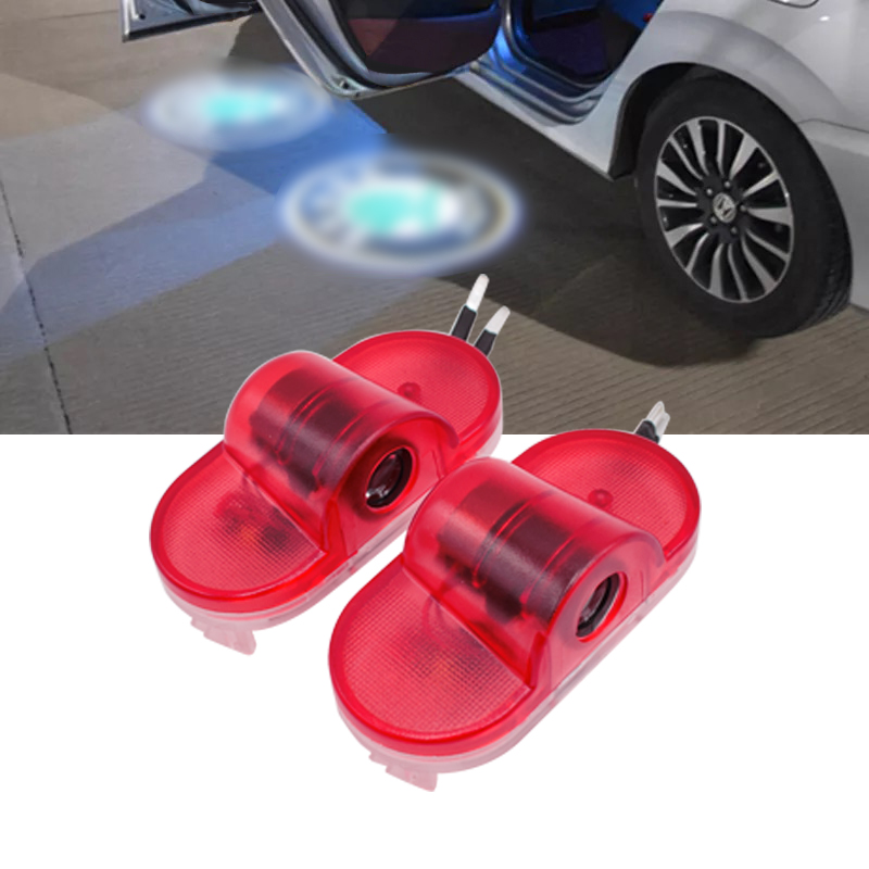 Brand New for Octavia 2004 2008 car LED Door Warning Light Welcome Ghost Shadow logo Projector ambient light auto accessorie in Decorative Lamp from Automobiles Motorcycles