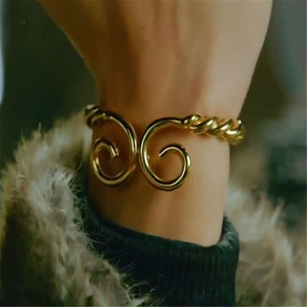 Bracelets & Bangles Ecoday Couple Bracelet Journey To The West Monkey King Bangles Men Gold Color Cuff Bracelets For Women Pulseira Masculina Activating Blood Circulation And Strengthening Sinews And Bones Bangles