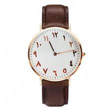 Урду цифрами часы кожа montre femme Франция Бесплатная Доставка часы montre homme