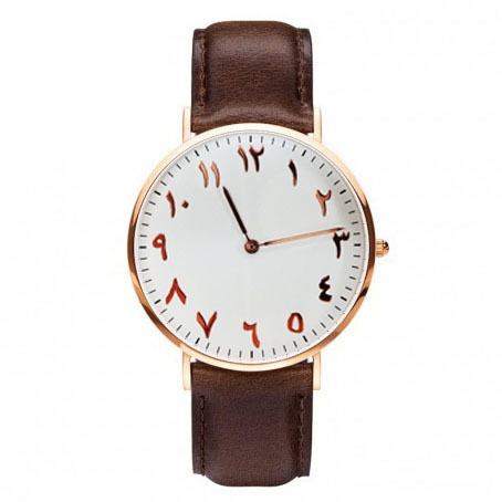 urdu numerals watches leather montre femme France Free Shipping watch montre homme