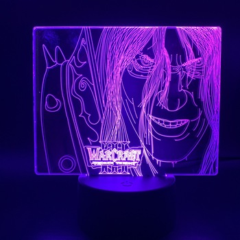 3d Lamp Game World of Warcraft Lich King Arthas Menethil Nightlight Home Decor Child Kids Gift 3 WOW Led Night Light