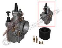 KOSO PWK 24mm Flat Slide Carburetor Kit RTL250 CR80 CR85R CR125 NSR50 NSR80 Dirt Pit Bike