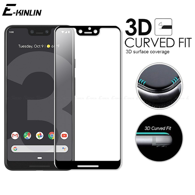 3D Curved Edge Full Cover Tempered Glass For Google Pixel 4 3 3a 2 XL 4XL 3XL 3aXL 2XL Screen Protector Protective Glass Film image