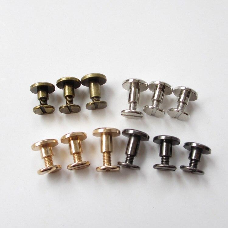 Bind Clip Screws DIY, Handmade Journal Binding Screws. Rifle Color