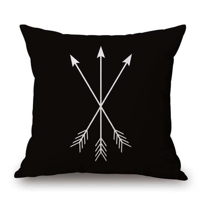 Nordic Geometric Decorative Pillowcase Size: 45CM WT0042 Color: 3