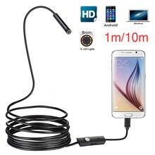 HD 720P 8mm אנדרואיד USB אנדוסקופ 2.0MP מצלמה 2m 5m IP67 עמיד למים נחש פיקוח אנדרואיד OTG USB Borescope מצלמה