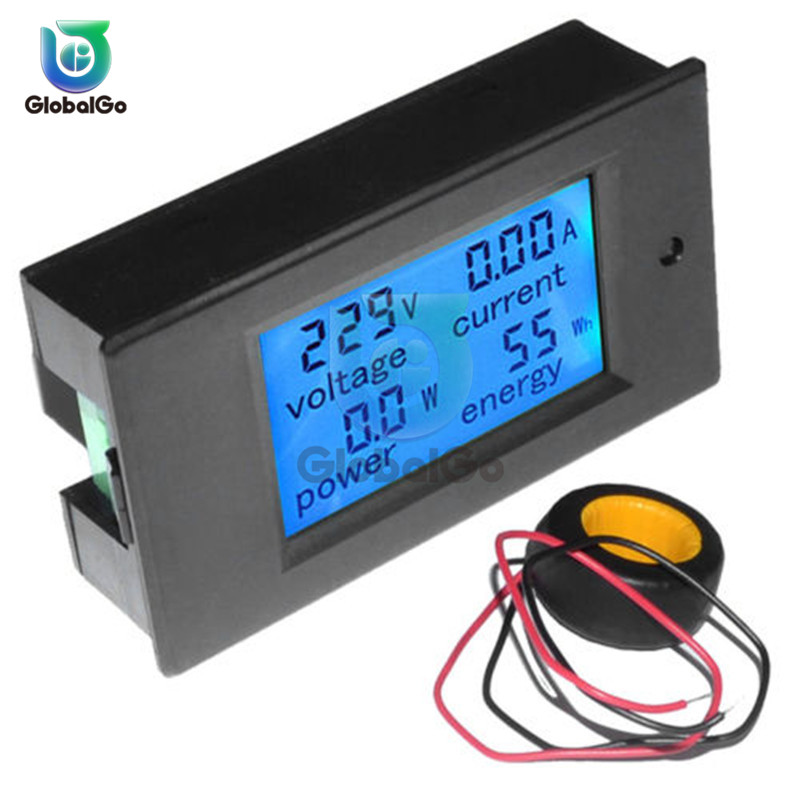 20A 50A 100A Digital LCD Voltmeter Ammeter DC AC Voltage Current Power Energy Meter Tester Backlight AC 80-260V DC 6.5-100V