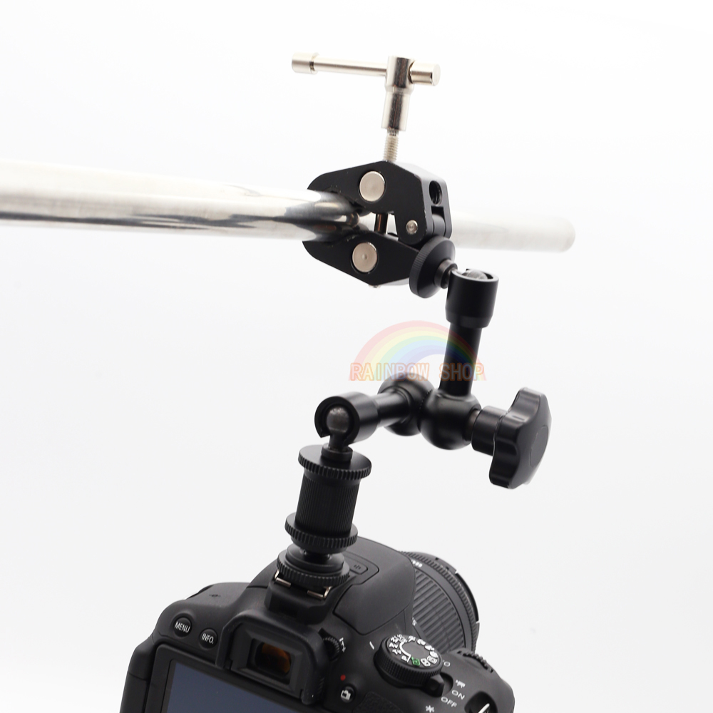 7 Inch Articulating Magic Arm + Super Clamp for Camera LCD Monitor LED Light Free Shipping Special offer sell like hot cakes