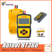 Original Autool BT360 Auto Battery Tester 12V Automotive Battery Analyzer 2000CC