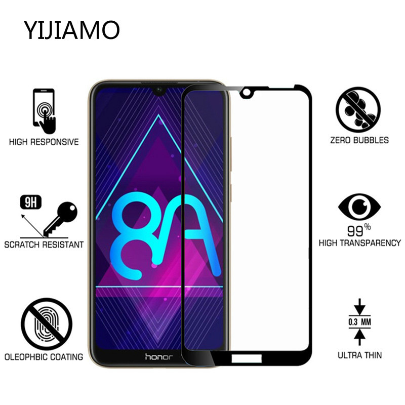 3D Tempered Glass For Huawei Honor 8A Screen Protector For Honor Play 8a Pro Full Cover Safety Protective Film On Honor 8C 8X 8