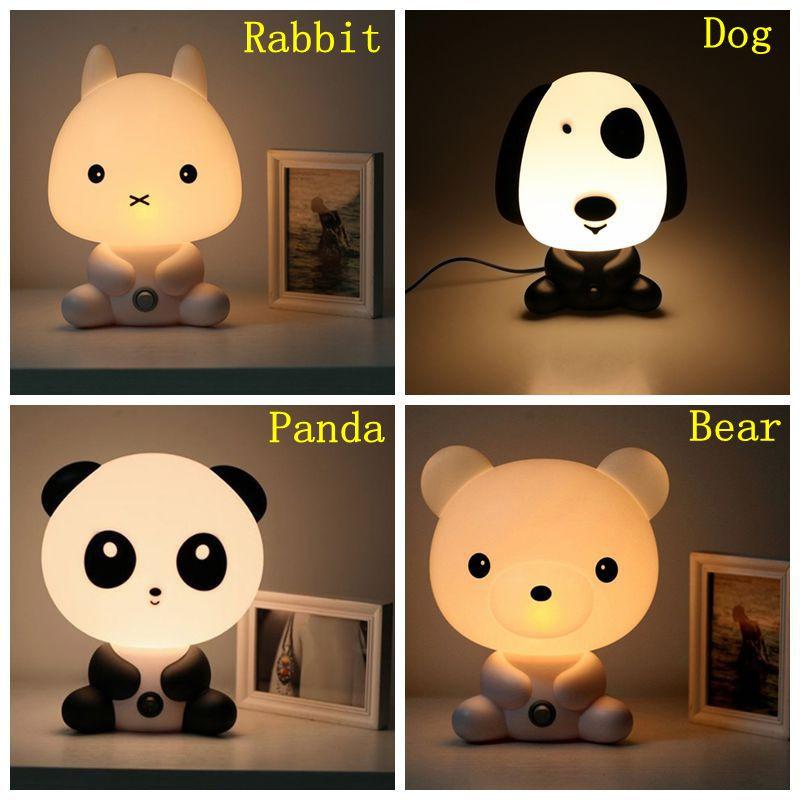 Veilleuse pour la chambre d'enfant bébé Panda / lapin / chien / ours