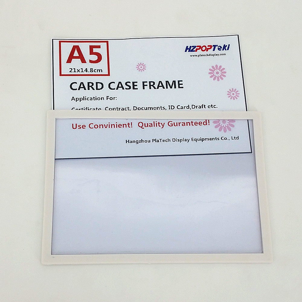 A7 Back Sticked By Magnetic Plastic Pop Paper Sign Card Label Display Show Case Frame On Retail Store Shelf Promotion 1000pcs Fixing Prices According To Quality Of Products File Folder