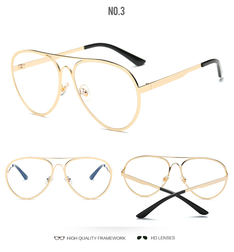 VAZROBE Aviação Óculos de Ouro de Grandes Dimensões Mulheres ... afcdadd2b1