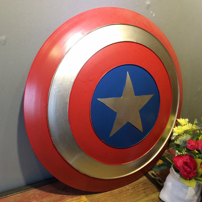 47cm High Quality Movie The Avengers Captain America Shield Rogers Bar Decorate Metal Shield Cosplay Halloween Prop/Gift supeman