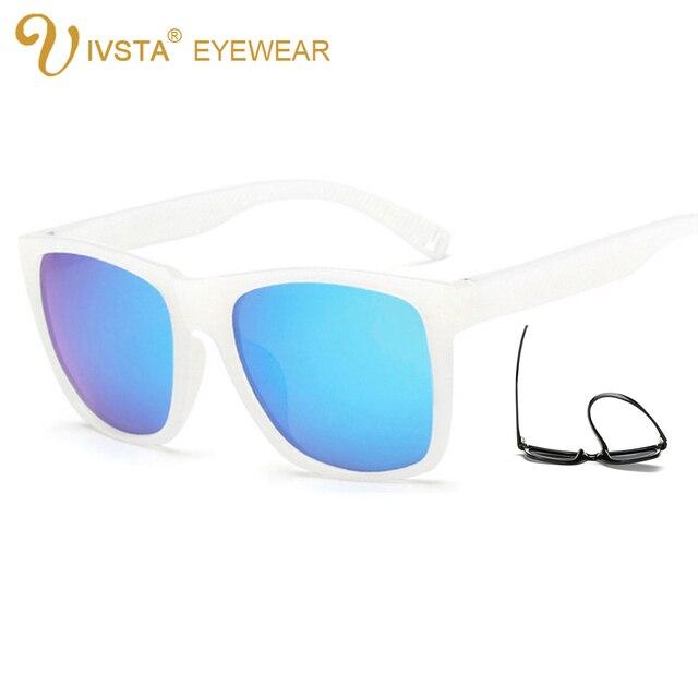 43fe7e06aaa9 IVSTA Sports Sunglasses TR90 Plastic Titanium Frame Light Fashion  Skateboard Polarized Lenses Men Mirror Square 2026 blue white