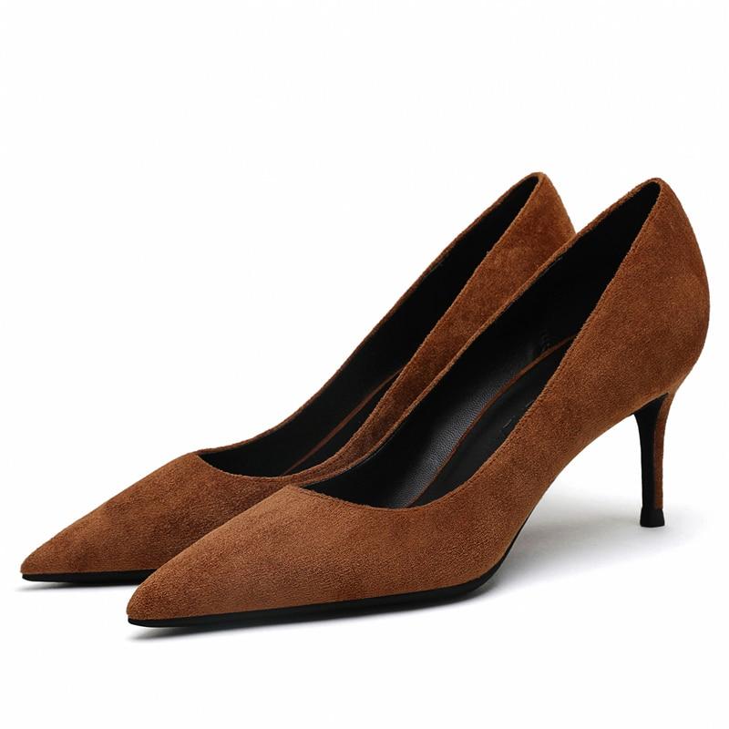 Women's Red Shoes 5cm 6cm 8cm Thin Heel Sexy Woman Pumps Summer EUR 34 -40 Office Ladies Femme Chaussure E0044