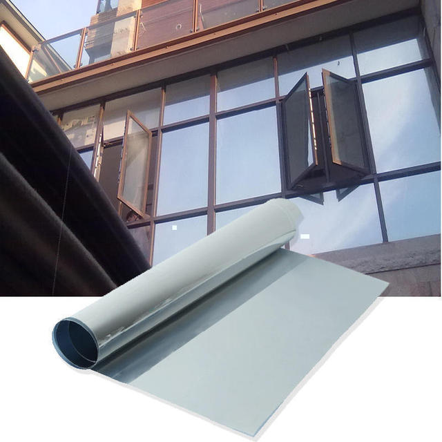 Privacy silver window film one way mirror silver insulation glass stickers solar reflective sunscreen uv rejection