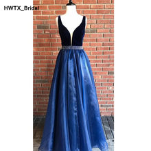 Shining Kralen Lange Bruidsmeisje Jurken 2018 Sexy Backless Royal Blue Jurk voor Wedding Party Formele Meisjes Prom Partij Jassen(China)
