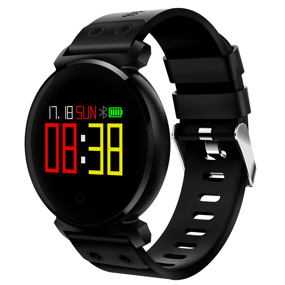 CACGO K2 Bluetooth Smart Watch Fitness Tracker Smart Bracelet Wristband Heart Rate Monitor Waterproof for iOS / Android Phones xiaomi mi band 4